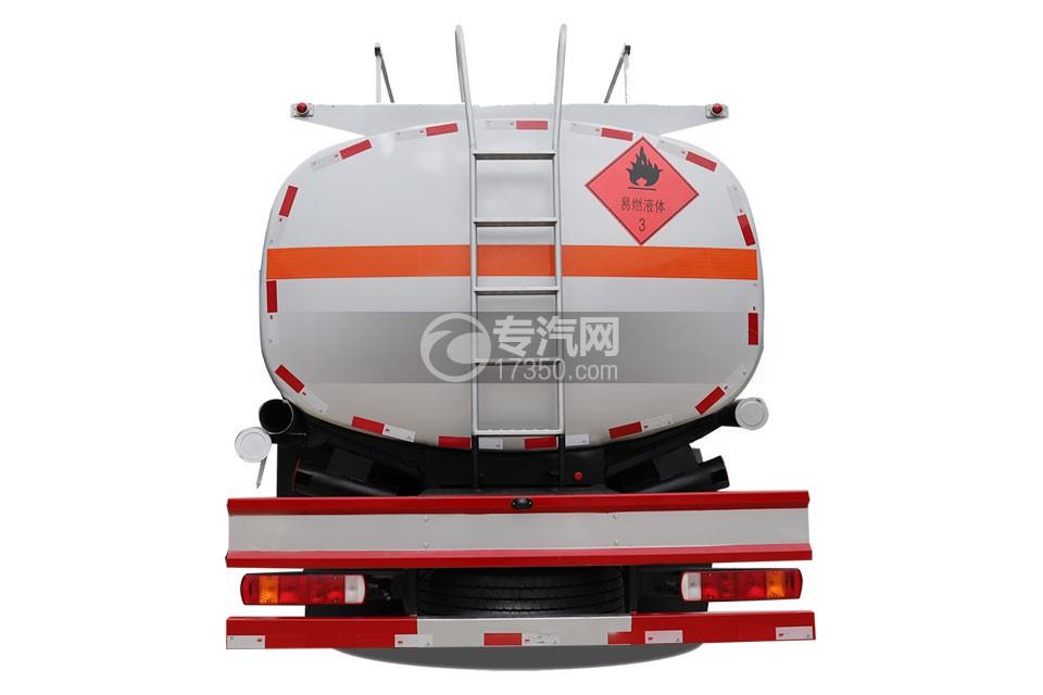 解放龍V小三軸國五21.7方運油車正后圖