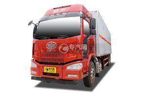 解放J6前四后八国五9.3米易燃液体厢式运输车