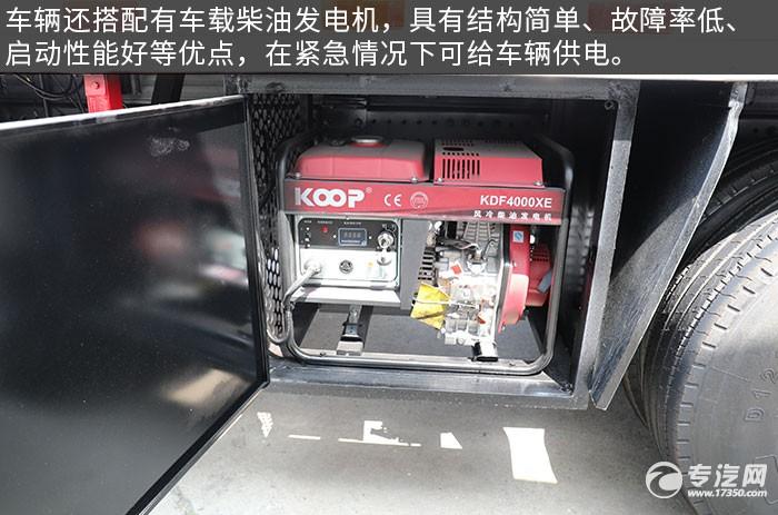 福田歐曼前四后八國六畜禽運輸車評測柴油發電機