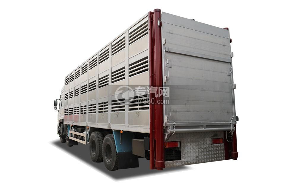 东风天龙VL前四后八畜禽运输车左后图