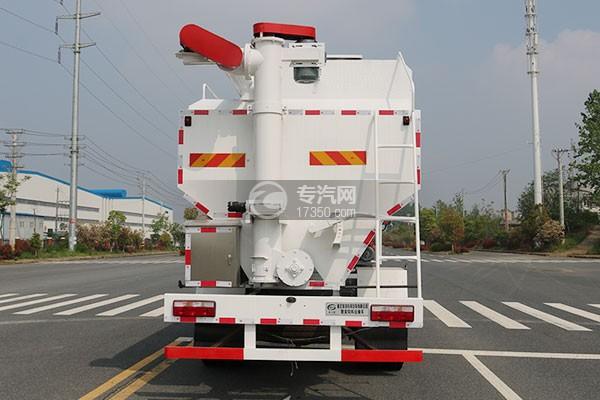飞碟奥驰V6单桥散装饲料运输车正后方图