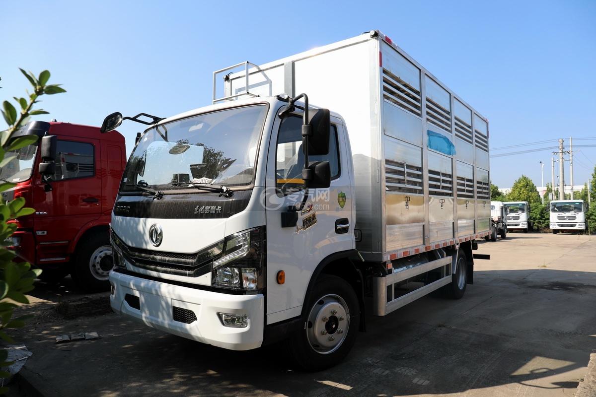 东风多利卡D7国六畜禽运输车左前图