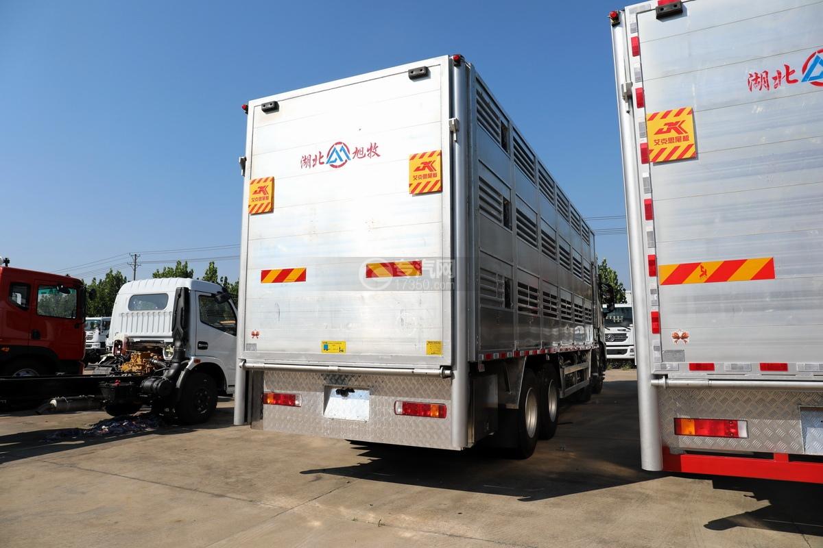 东风天龙KL前四后八国六畜禽运输车右后图