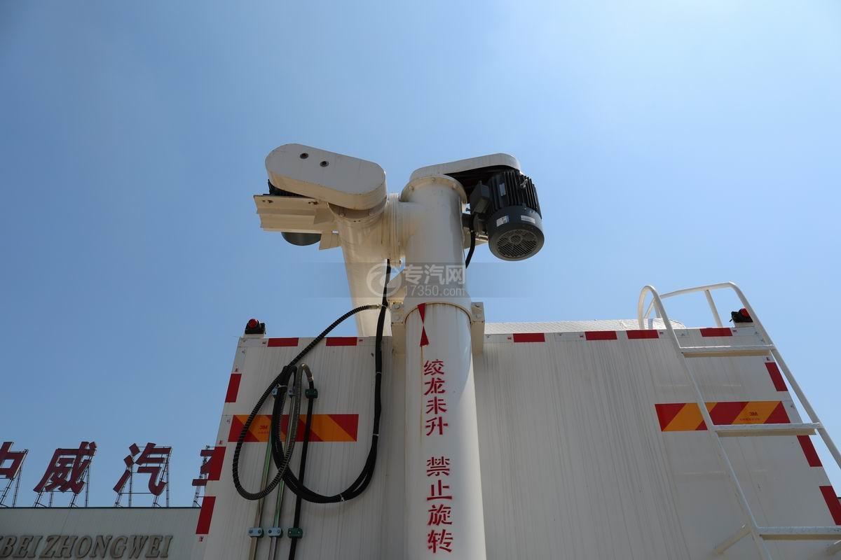 福田欧曼ETX前四后八散装饲料运输车绞龙电机