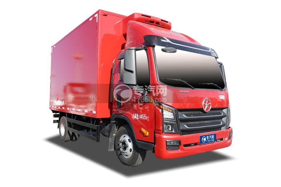 大運祥龍3300軸距國五4.05米冷藏車(紅色廂體)