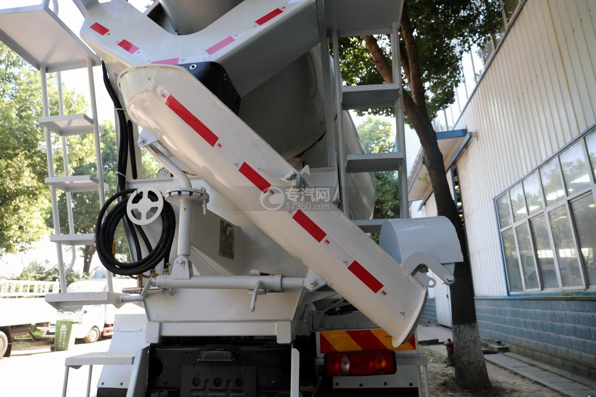 东风华神F5小三轴国五5.98方搅拌车卸料槽