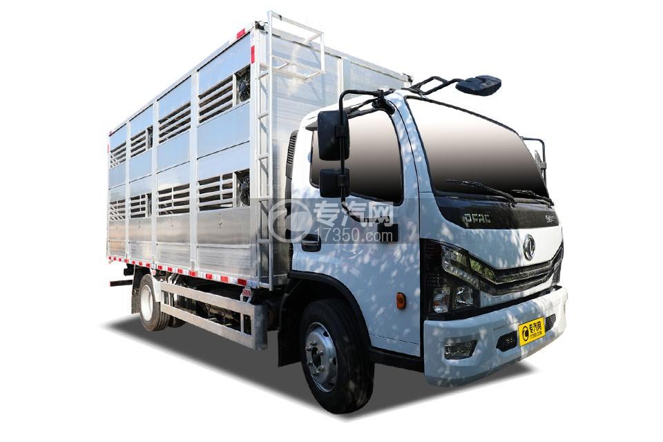 东风多利卡D7国六畜禽运输车右前图