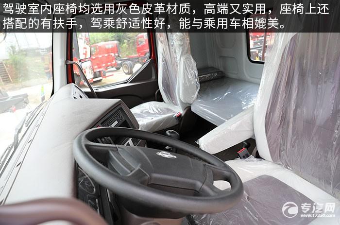 東風柳汽乘龍H5國六后雙橋12噸直臂隨車吊評測駕駛室