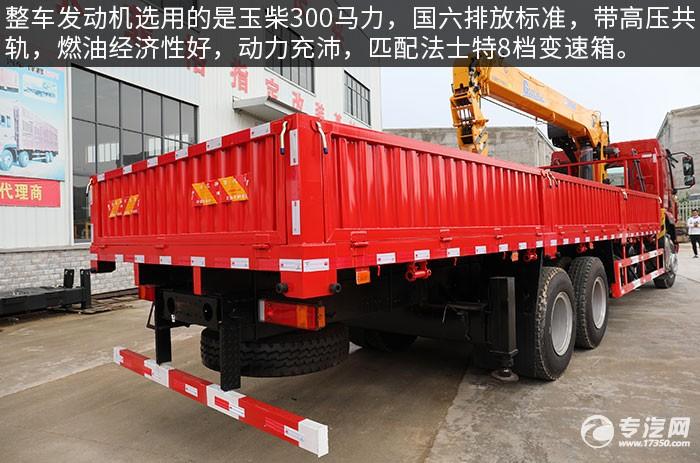 東風柳汽乘龍H5國六后雙橋12噸直臂隨車吊評測發動機