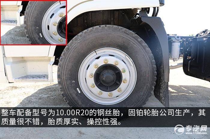 陕汽轩德翼6单桥220马力中卡评测轮胎