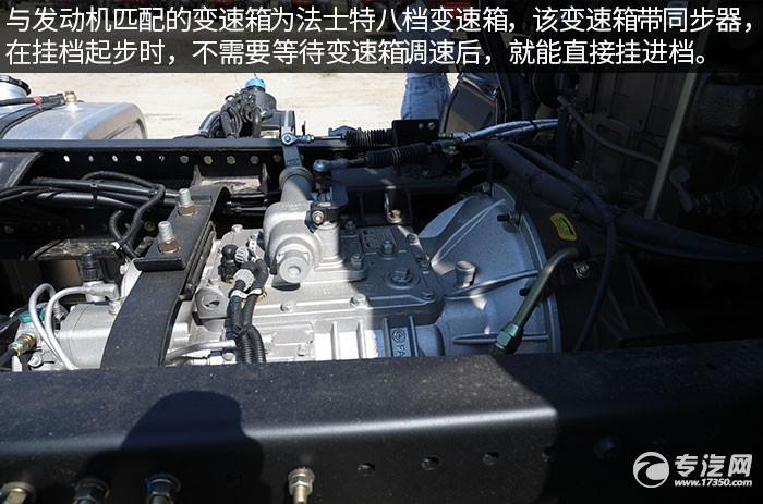 陕汽轩德翼6单桥220马力中卡评测变速箱