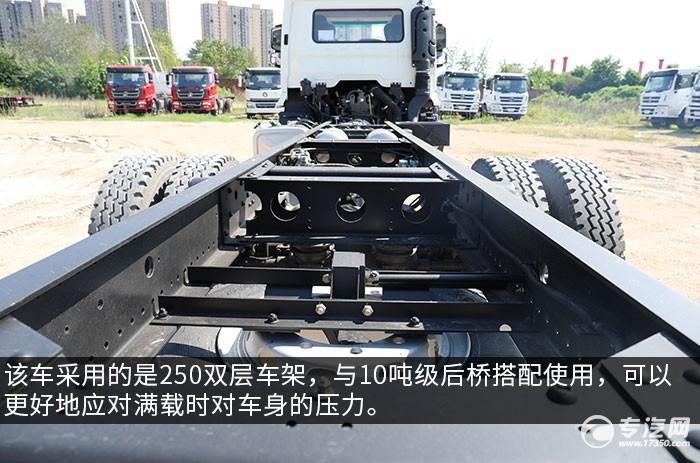 陜汽軒德翼6單橋220馬力中卡評測車架