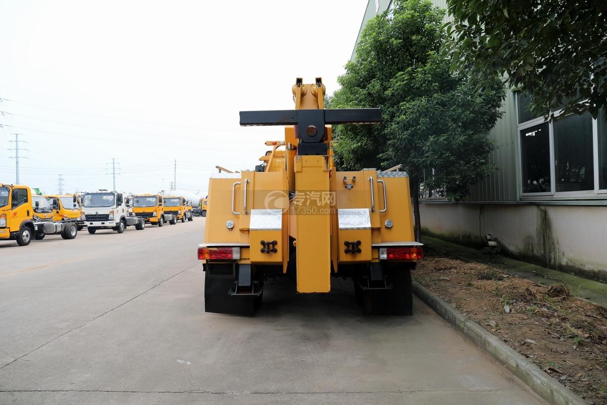 解放J6L单桥国五拖吊联体清障车(黄色)正后图