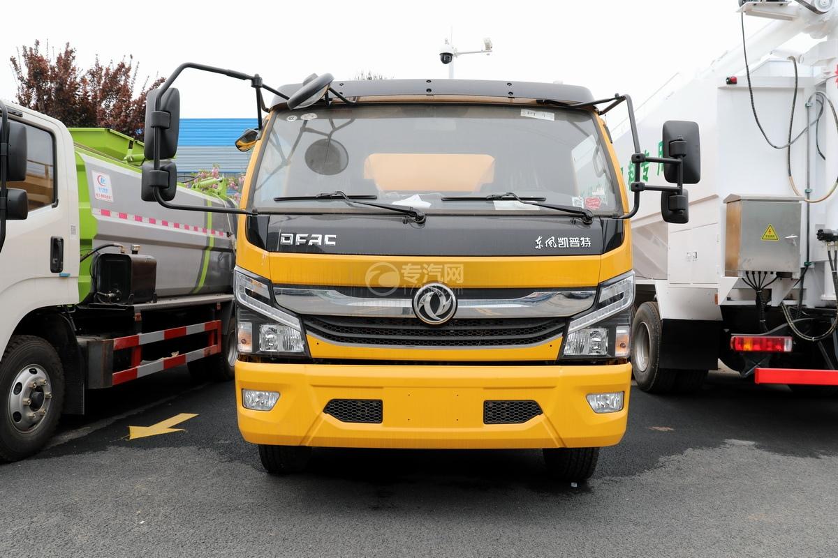 东风凯普特K7国六清洗吸污车(黄色)正前方位图