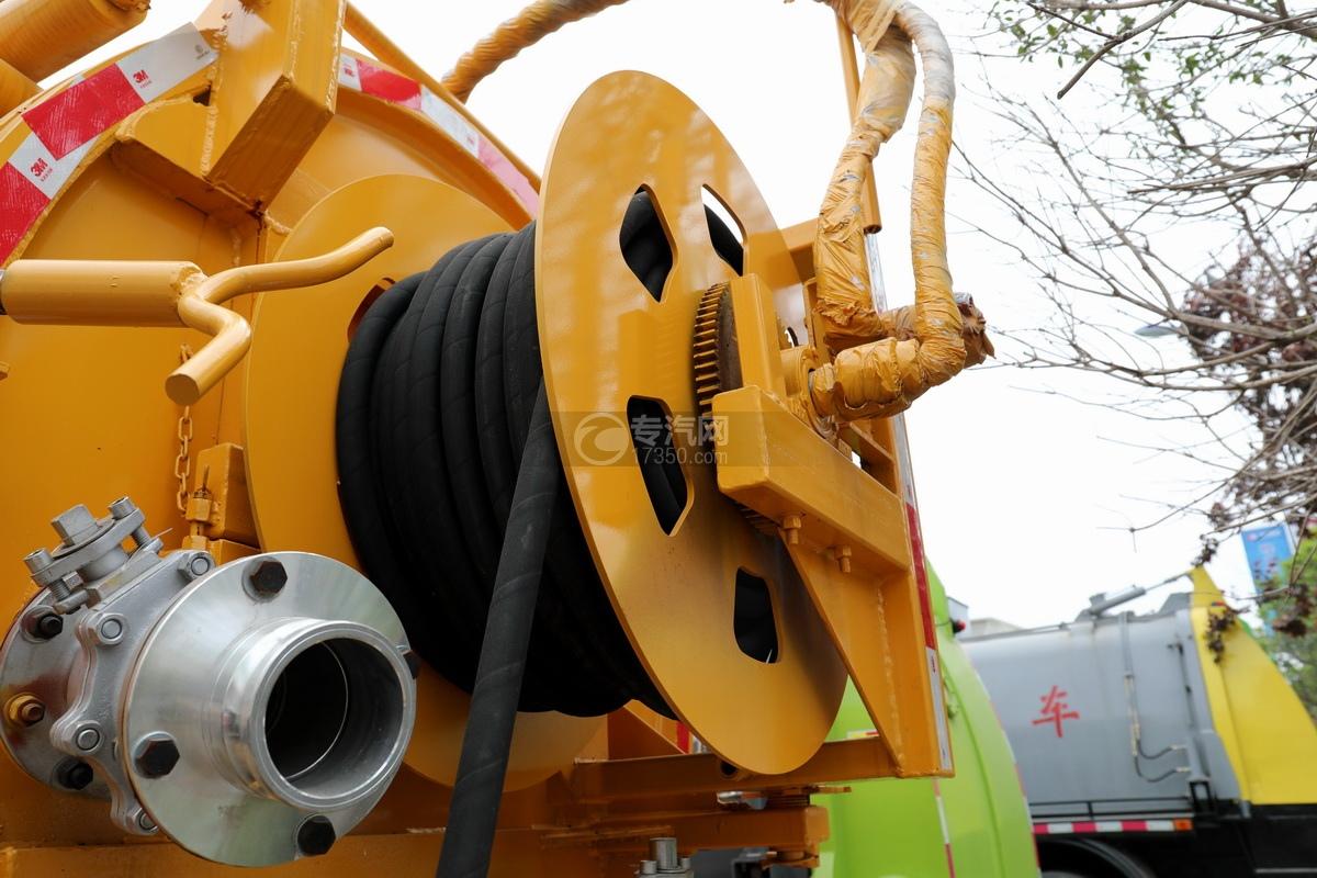 东风凯普特K7国六清洗吸污车(黄色)水管卷盘