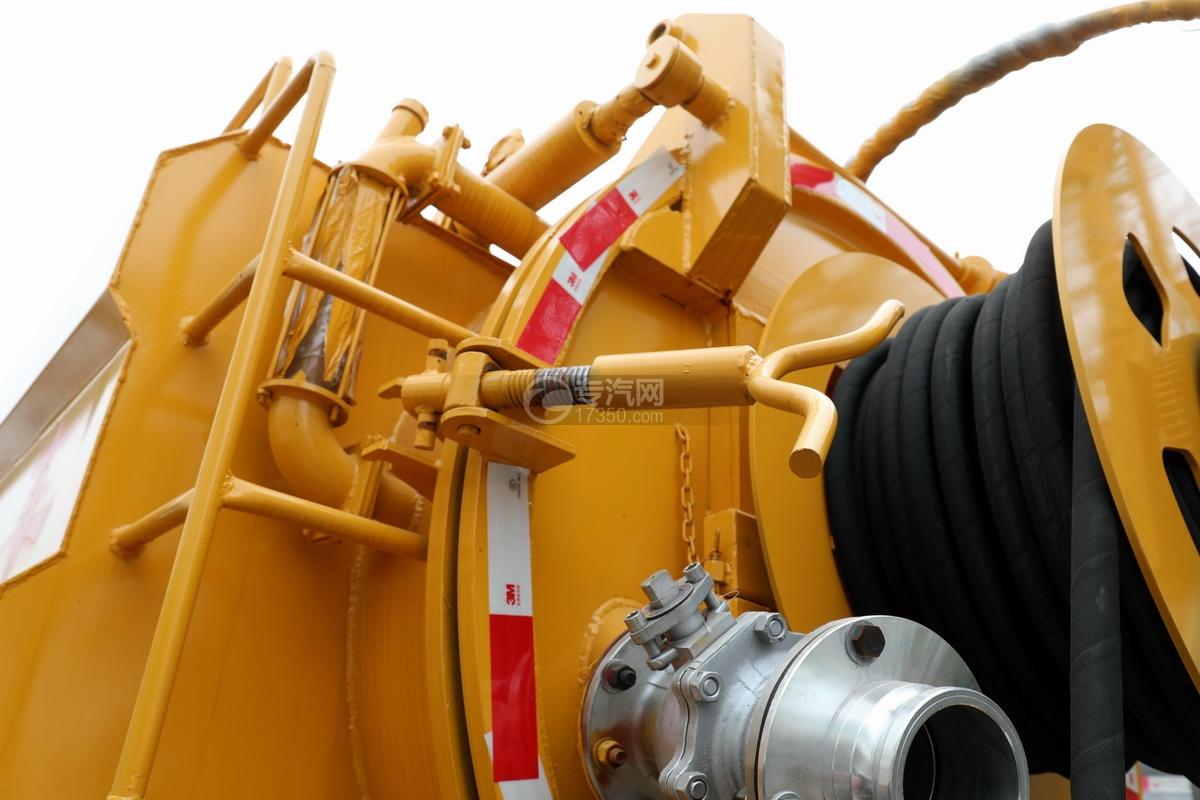 东风凯普特K7国六清洗吸污车(黄色)后盖锁紧装置