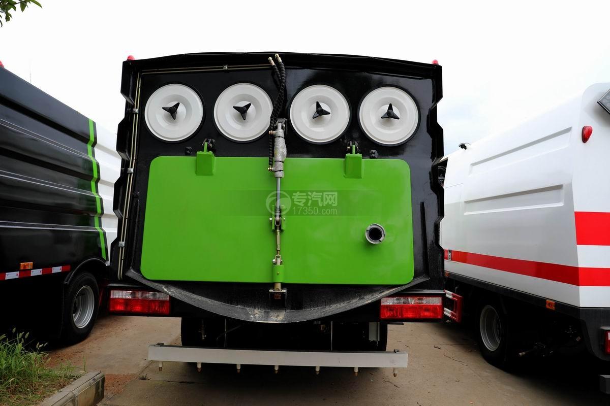东风多利卡D6国六6方吸尘车正后方图