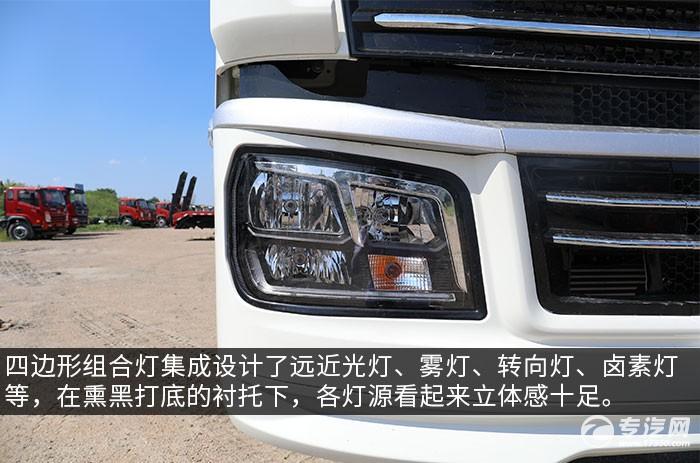 陜汽軒德翼6單橋220馬力中卡評測大燈