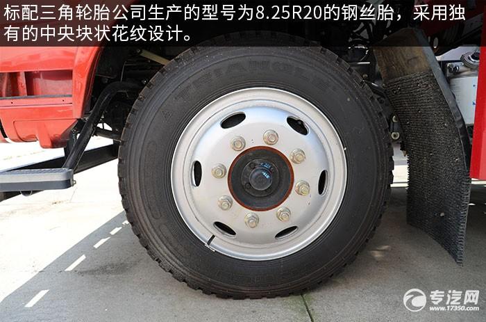 奥驰V3国六散装饲料运输车评测轮胎