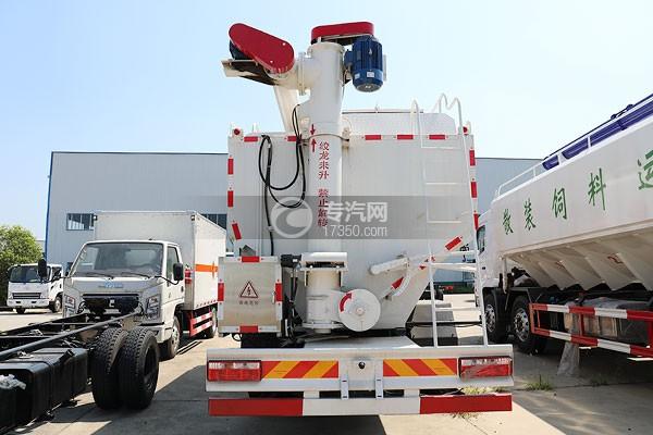 奥驰V3国六散装饲料运输车正后方图
