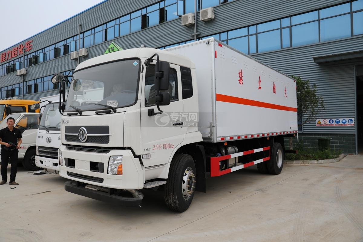 东风天锦国六6.2米易燃气体厢式运输车