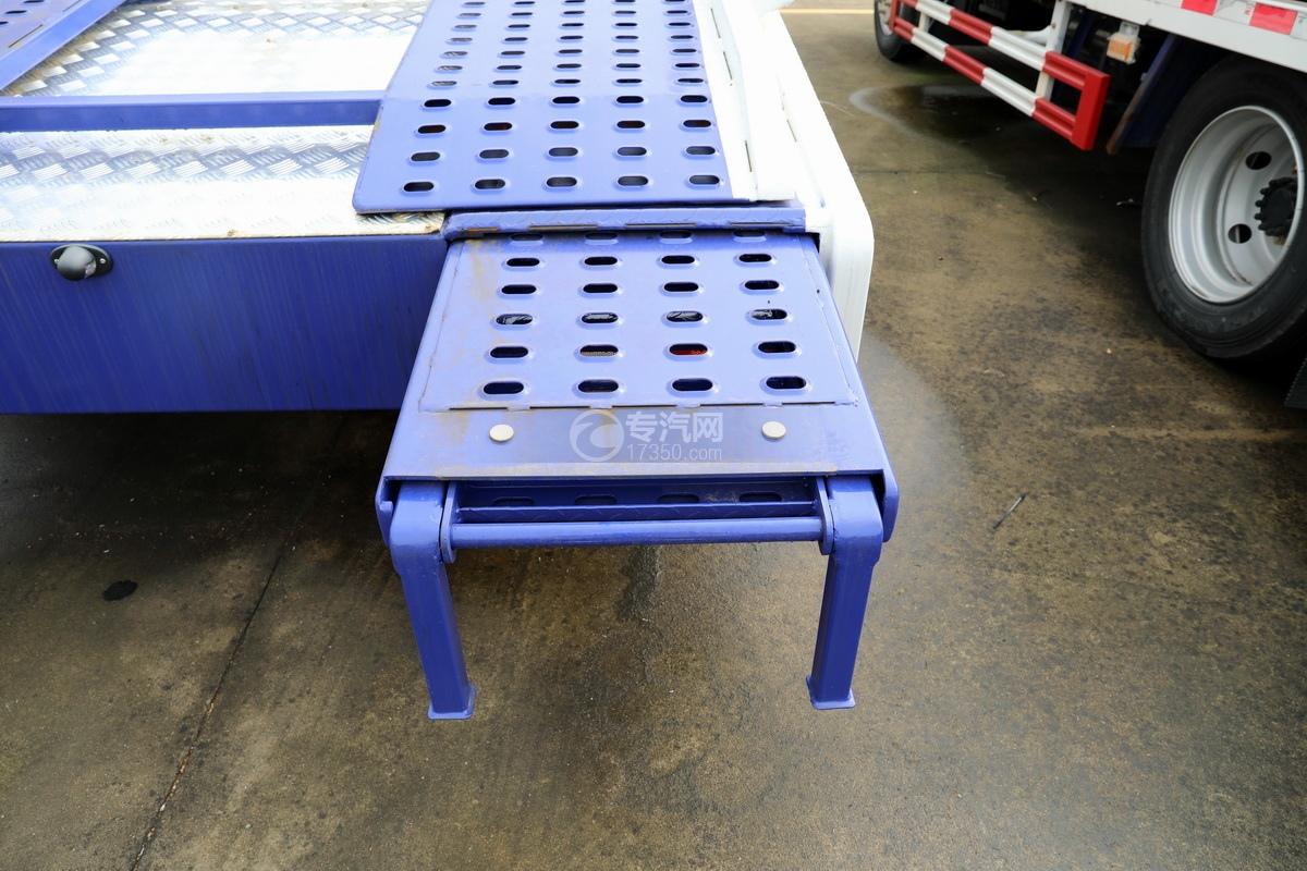 重汽豪沃单桥国六蓝牌双层清障车尾部伸缩板