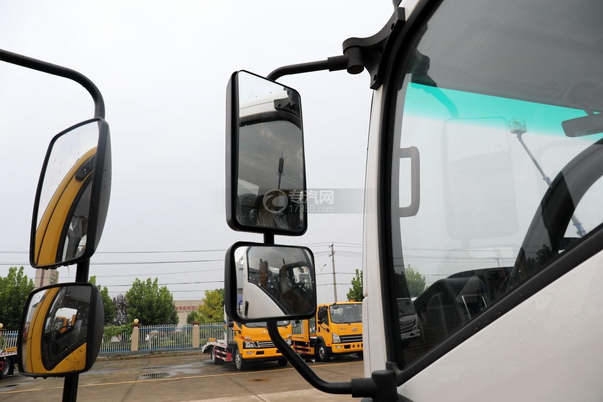 重汽王牌捷狮国六一拖二蓝牌清障车(白色)后视镜