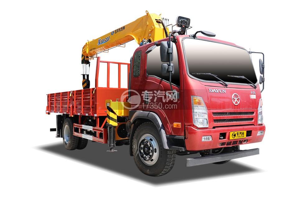 大运奥普力4400轴距国五8吨直臂随车吊(红色)