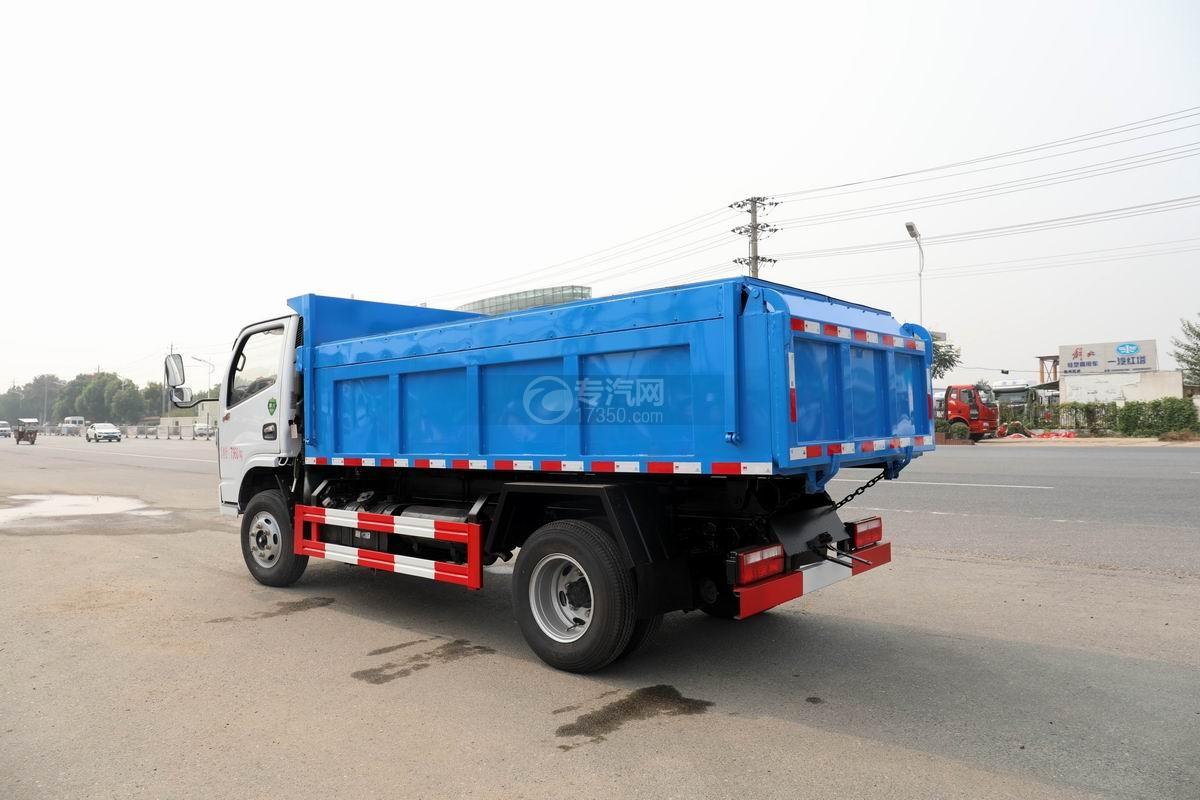 東風福瑞卡F6國六自卸式垃圾車側后方圖