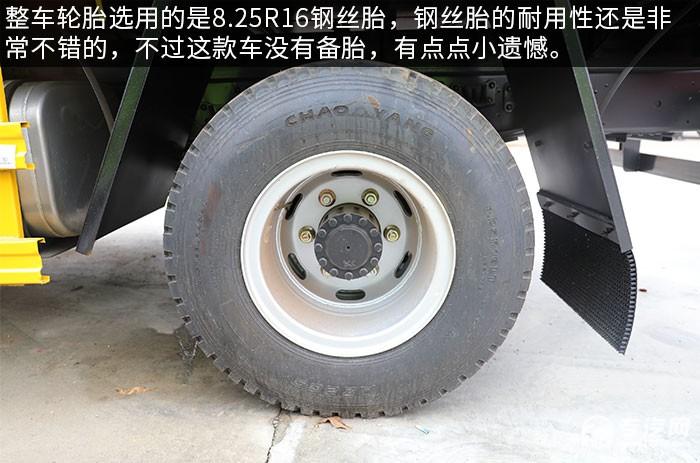 重汽豪曼5噸折臂隨車吊評測輪胎