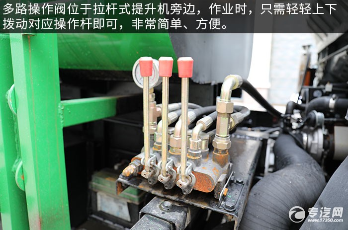 大運祥龍國六自裝卸式垃圾車評測多路操作閥