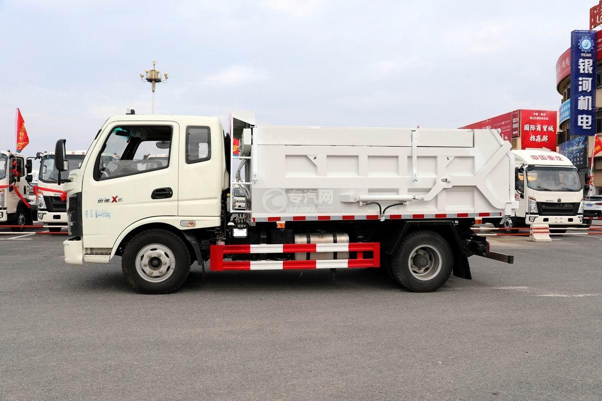 奧馳X2廂式垃圾車側面圖