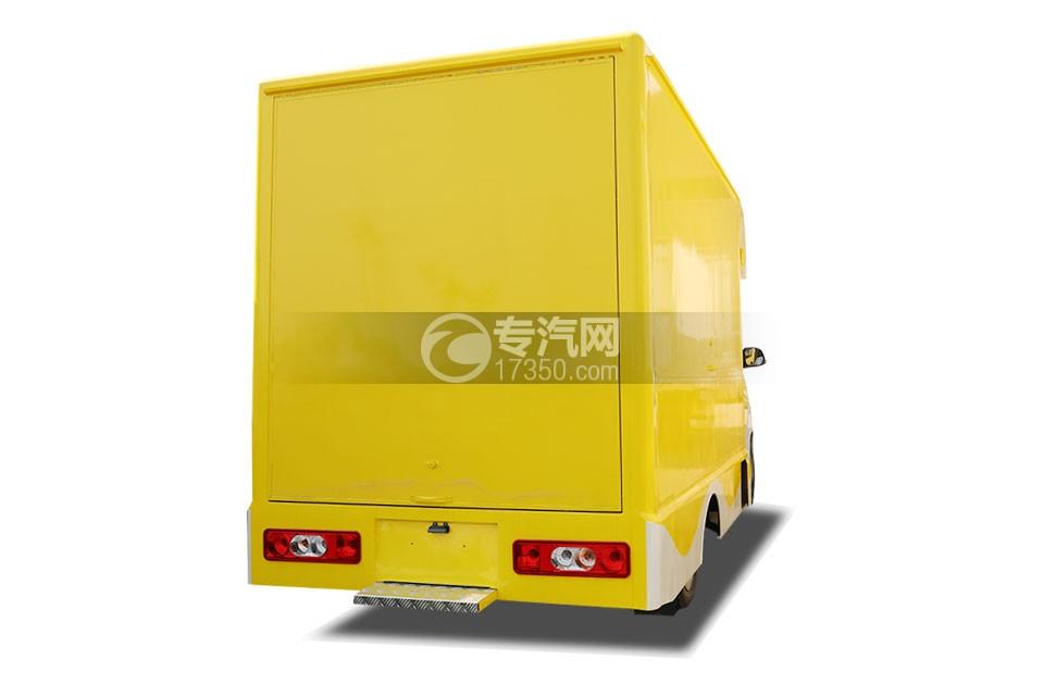 开瑞国六售货车(黄色)右后图