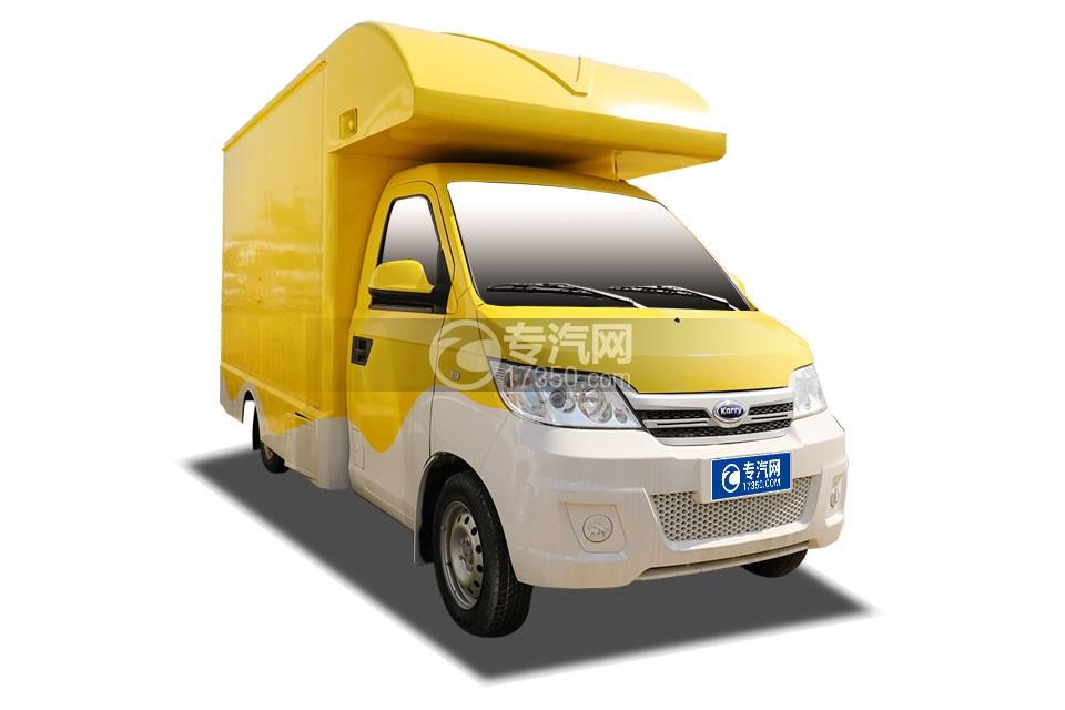 开瑞国六售货车(黄色)右前图