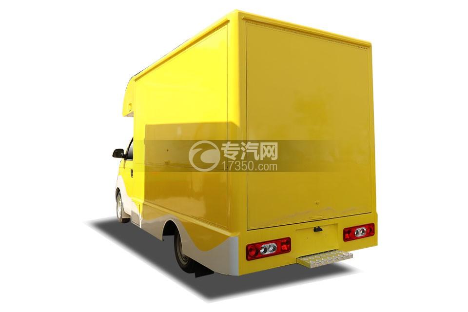 开瑞国六售货车(黄色)左后图