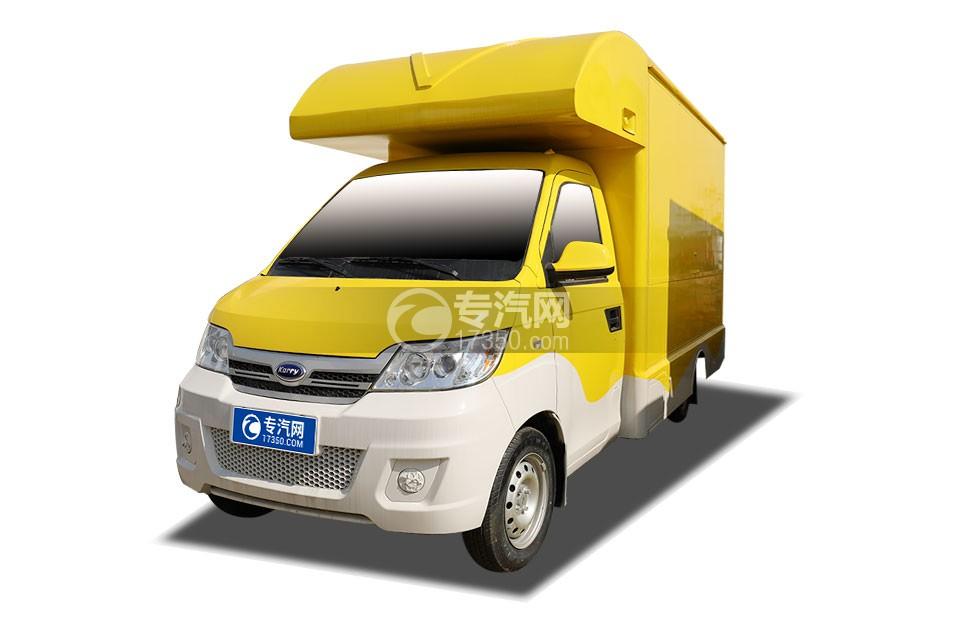 开瑞国六售货车(黄色)左前图