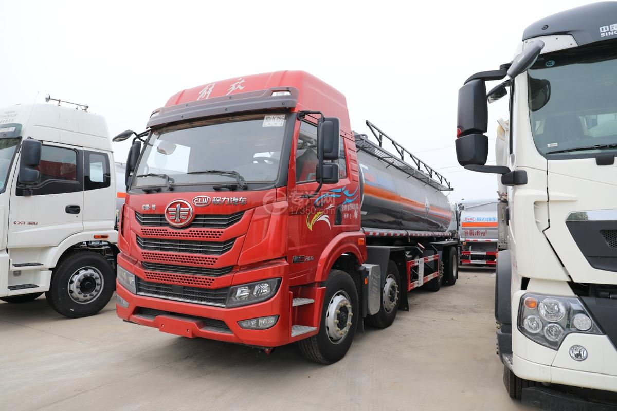 解放新悍V2.0前四后六国五18.1方腐蚀性物品罐式运输车左前图