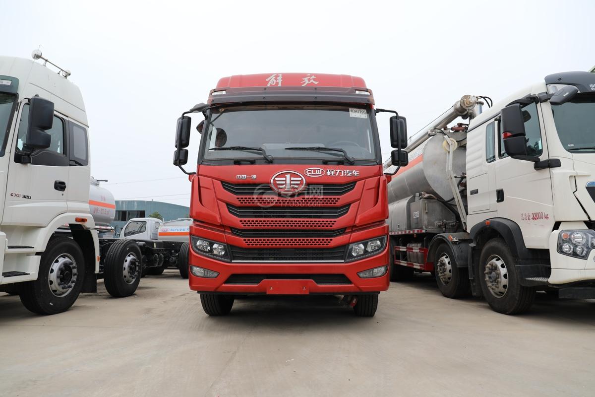 解放新悍V2.0前四后六国五18.1方腐蚀性物品罐式运输车车前图