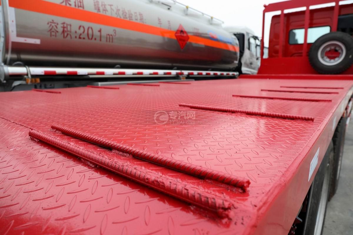 东风柳汽乘龙H5前四后八平板运输车上装花纹板