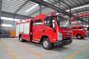 慶鈴五十鈴ELF雙排3.5噸泡沫消防車圖片