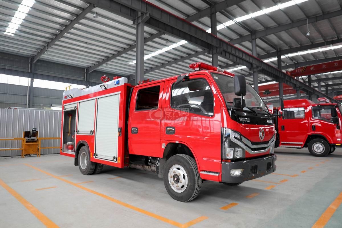 東風多利卡D6雙排2噸泡沫消防車