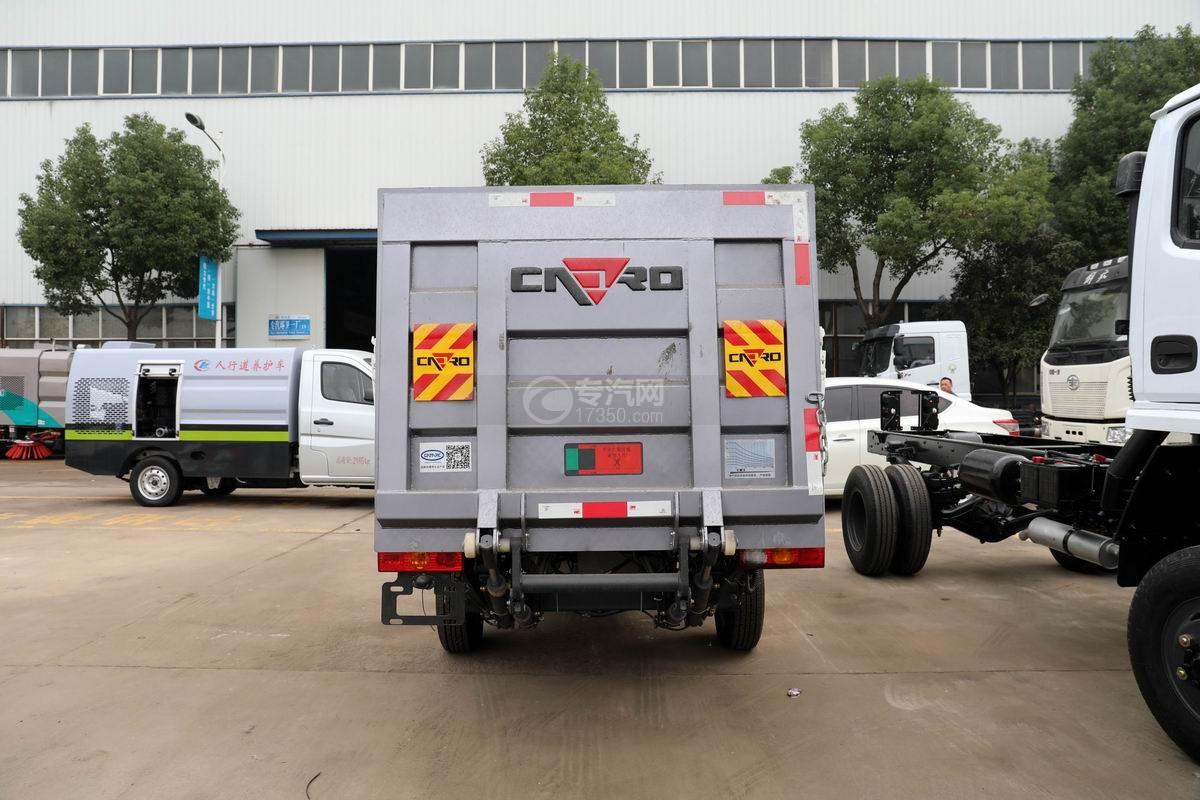 福田祥菱V1国六桶装垃圾运输车正后方图