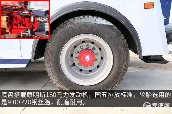 东风多利卡D9国五拖吊联体清障车评测发动机、轮胎