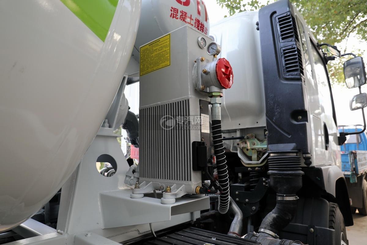 大運運途單橋國六3.57方攪拌車散熱器