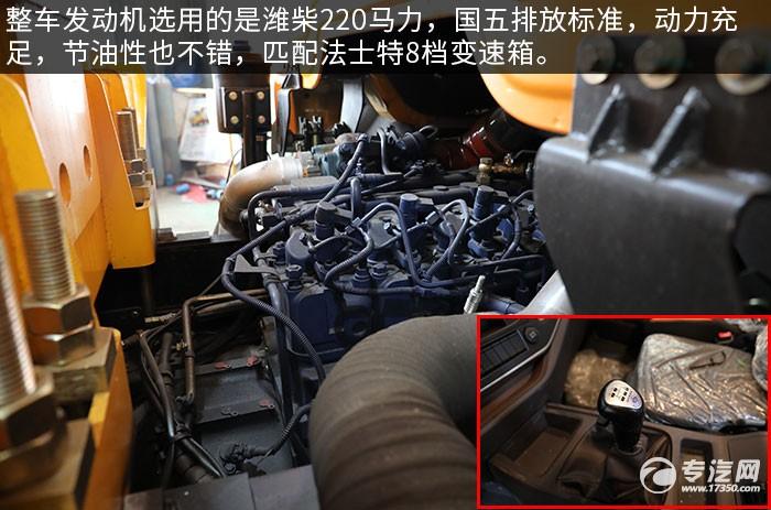 陕汽轩德翼6一拖二带吊清障车评测发动机、变速箱