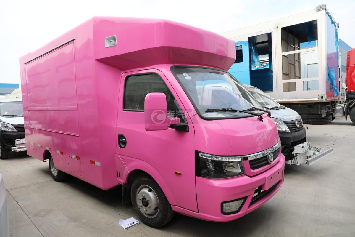 东风途逸国六售货车(粉色)