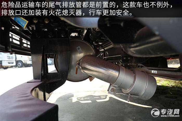东风天锦单桥国五12.1方加油车评测尾气排放管