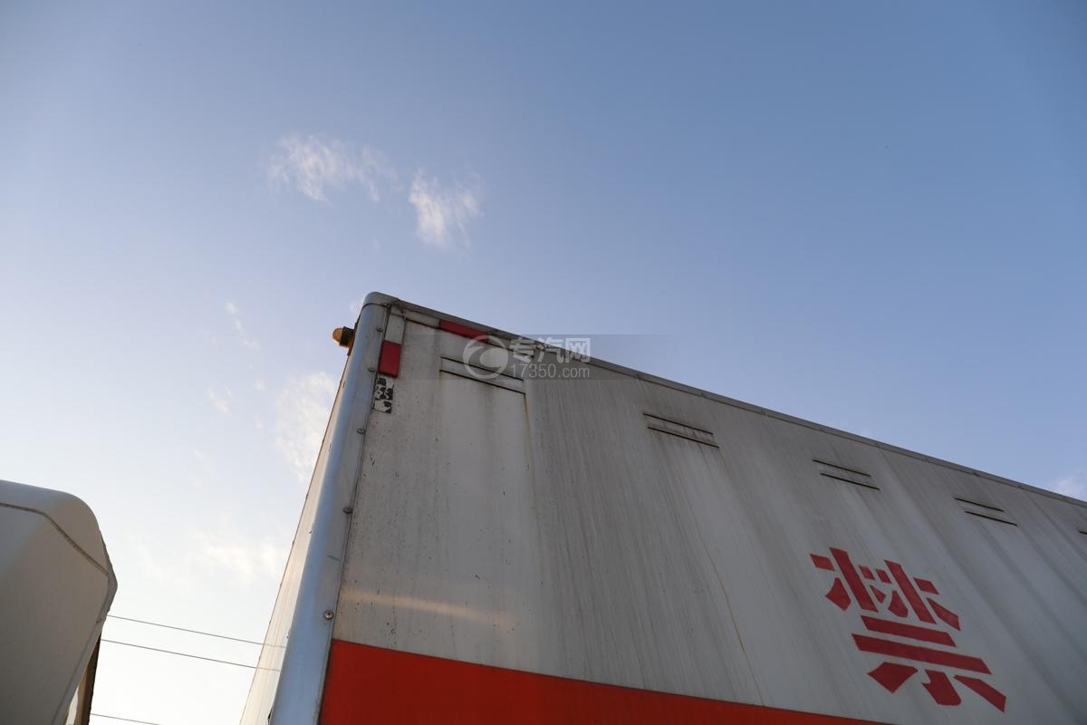 东风锦程V6前四后八国六9.5米杂项危险物品厢式运输车通风孔