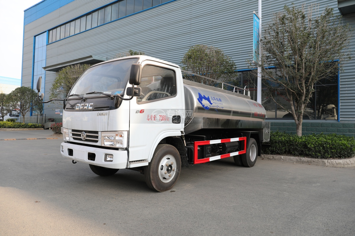 东风小多利卡国五3.39方鲜奶运输车左前图