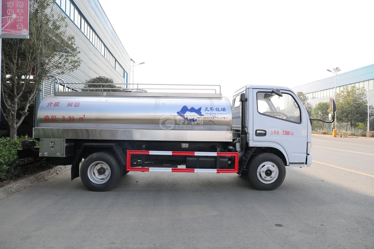 东风小多利卡国五3.39方鲜奶运输车左侧图